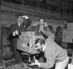 The Goon Show, Harry Secombe, Peter Sellers and Spike Milligan, 1956 Copyright BBC