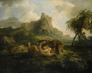 George Stubbs Tygers at Play before 1776 Oil on canvas 101.5 x 127 cm On loan from Private Collection, Hong Kong
