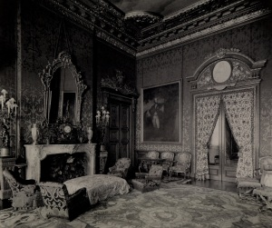 View of the Red Drawing Room from Baron Ferdinand de Rothschild's Red Book, 1897; ©The National Trust, Waddesdon Manor (2)