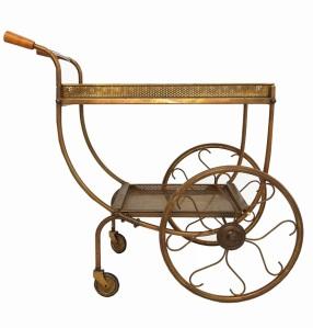 Brass drinks cart offered by Matt Mitchell