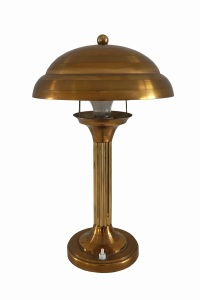 Brass lamp offered by Travers Antiques