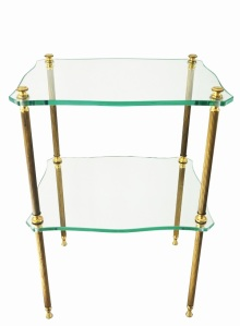 Glass end table offered by Louise Verber