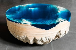 Christopher Duffy Abyss Horizon, 2016 High grade wood from Forest Stewardship Council managed forests and other controlled sources, glass, Courtesy of Sarah Myerscough