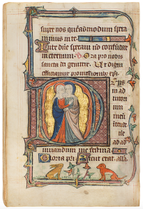 Dr. Jörn Günther Rare Books AG Beauchamp-Corbet Hours, manuscript on vellum, illuminated by the Milemete workshop, mainly by the De Bois Master. England, London, dated 1328 image courtesy of Dr. Jorn Gunther Rare Books