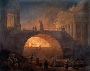 Hubert Robert (1733-1808) Burning of Rome, c. 1771 Musée d'Art Moderne André Malraux, Le Havre