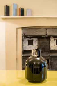 Edward Barber, Jay Osgerby's black Port vase in the Soane's Museum front kitchen. Photo: Gareth Gardner