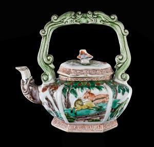Famille Verte Teapot China, Kangxi period, ca.1690