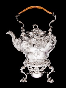 Silver kettle and stand Paul de Lamerie England, 1751