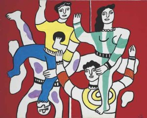 Fernand Leger Les Quatre Acrobates, 1954 Courtesy of Opera Gallery