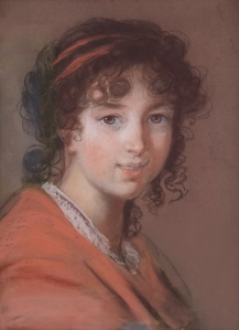 Élisabeth Louise Vigée Lebrun A young girl with a red dress: a presumed portrait of Caroline Rivière, €120.000-180.000 © CHRISTIE'S IMAGES LIMITED 2016