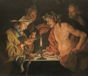 Matthias Stomer (Amersfoort c. 1600-after 1652 ?Sicily or northern Italy) Blowing Hot, Blowing Cold oil on canvas 46 ¾ x 54 in. (118.8 x 137.1 cm.) Estimate: £400,000-600,000 CHRISTIE'S IMAGES LTD. 2016