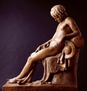 John Gibson, R.A. (1790-1866) Sleeping Shepherd Boy 1818 Bequeathed by John Gibson, R.A., 1866 Plaster 110.50 x 47.0 x 94.0 cm Photo credit: (c) Royal Academy of Arts, London