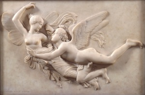 John Gibson, R.A. (1790-1866) Cupid pursuing Psyche Before 1843 Bequeathed by John Gibson, R.A., 1866 Marble relief 72.40 x 103.50 x 10.50 cm Photo credit: (c) Royal Academy of Arts, London