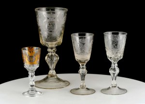 A collection of Russian Royal glassware spanning major important reigns