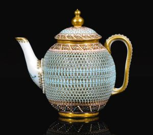 Teapot Royal Worcester, George Owen and Samuel Ranford England, 1878