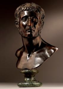 François Girardon (1628-1715), Bust of Modios Asiatikos, bronze, 43.8cm high, 34.4cm wide.
