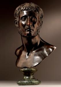 François Girardon (1628-1715), Bust of Modios Asiatikos, bronze, 43.8cm high, 34.4cm wide.