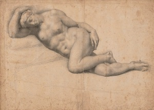 Daniele Ricciarelli, called Daniele da Volterra (Volterra 1509-1566) Dido reclining, asleep black chalk, watermark crossbow in a circle (Briquet 749, Lucca, 1548), unframed 13 x 18 1/8 in. (33.2 x 45.9 cm.) Estimate: £100,000 - 150,000 CHRISTIE'S IMAGES LTD. 2016