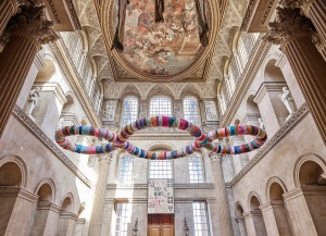 Great Hall Terzo Paradiso/Third Paradise(2003-‐2016) 1200 x 480 x 50 cm, aluminium,foam,rags Photo:Tom Lindboe Courtesy: Blenheim Art Foundation