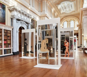 Long Library From Self-­‐Portraits (Il Presente/The Present) to Quadri Specchiantii/Mirror Paintings (1961-­‐ 2016) Dimensions variable, canvas acrylic and plastic paint, aluminium, silkscreen print, mirror Photo: Tom Lindboe Courtesy: Blenheim Art Foundation