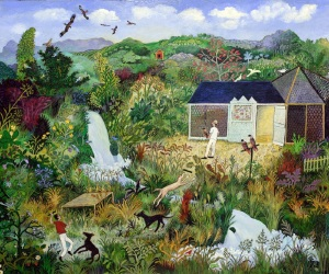 Anna Pugh FLYING KITES, 2016 Acrylic on Board 28¾ x 32¾ ins / 73 x 83.2 cm
