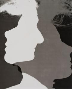 Erwin Blumenfeld, Shadowed Silhouettes, 1953, Silver Gelatin Print, Courtesy Osborne Samuel