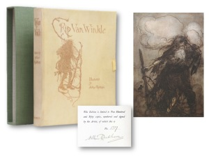 Rip Van Winkle – the first book wholly illustrated by Arthur Rackham. Limited edition numbered copy 137 of 250 copies printed Courtesy of Peter Harrington