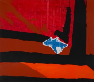 Bernard Jacobson Gallery Robert Motherwell (1915-1991) Untitled (New England Elegy No.5) 1967 Oil on canvas 296.6 x 355.6 cms (116 3/4 x 140 ins) RM12608