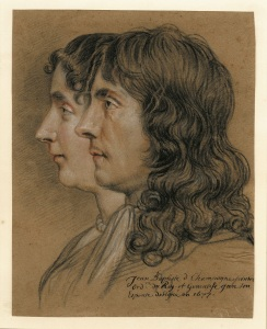 Portrait of Jean-Baptiste de Champaigne and his wife Geneviève , Nicolas de Plattemontage, 1677, 260.00 x208.00 mm, Black chalk with red and white chalk on paper © The Trustees of the British Museum