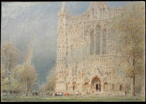 West Front of Salisbury Cathedral, 1900 Albert Goodwin © The Salisbury Museum