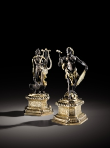 A pair of silver and parcel-gilt figures of Apollo and Vulcan, Abraham Drentwett II, Augsburg Estimate: 60.000 – 80.000 € Photo credit: Sotheby's / Art digital studio
