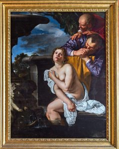 Artemisia Gentileschi Susannah and the Elders, 1622 Oil on canvas 161.5 × 123 cm © The Burghley House Collection