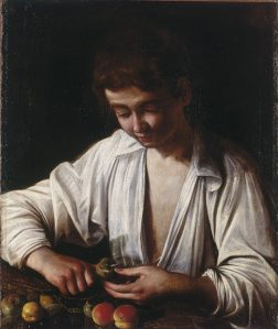 Michelangelo Merisi da Caravaggio Boy peeling fruit, about 1592-3 Oil on canvas 63 × 53 cm Royal Collection Trust / © Her Majesty Queen Elizabeth II 2016