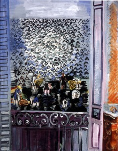 La fenêtre, 1923 Signed lower right 'Raoul Dufy' Oil on canvas 36 1/4 x 28 3/4 in, 92 x 73 cm Courtesy Connaught Brown, London.