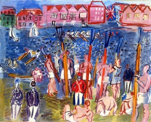 La régate à Henley, 1930-35 Signed lower left 'Raoul Dufy' Oil on canvas 25 3/8 x 31 7/8 in, 64.6 x 81 cm Courtesy Connaught Brown, London.