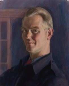 Hubert Arthur Finney (1905-1991) Self portrait, 1945 Framed (ref: 7654) Pastel, 17 5/8 x 14 1/8 in. (45 x 36 cm)