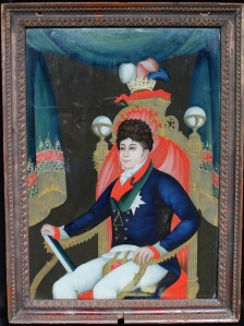 George, Prince of Wales (later George IV) on throne Courtesy of The Library & Museum of Freemasonry
