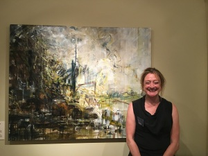 Kate Giles and her painting after John Constable. Courtesy of Salisbury Museum