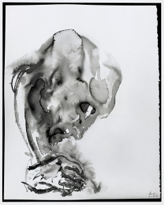 Father painting 16/1/94 (4), 1994. Ink on paper. 61 x 49 cm © Maggi Hambling; photo: Douglas Atfield