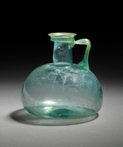 Roman glass jug 1st - 2nd century AD Height: 13.5 cm
