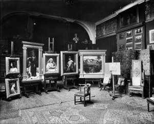 The original installation in Frederic Leighton's Studio, by Bedford Lemere, 1 April 1895. ©Historic England Archive. Image Courtesy of Leighton House Museum