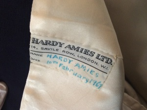 Label from Hardy Amies' own suit jacket, 1967 Image © LBBD Archive at Valence House