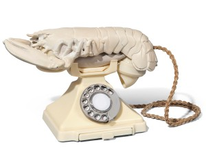 Lot 10 Salvador Dalí (1904-1989) and Edward James (1907-1984) Lobster Telephone (white aphrodisiac) white Bakelite telephone and white plaster lobster Length: 12 ½ in. (31.7 cm.) Conceived by Salvador Dalí in 1936; commissioned by Edward James from Green & Abbott in 1938 in an edition of eleven, four red and seven white. Estimate GBP 150,000 - GBP 250,000 (USD 186,450 - USD 310,750) © Christie's Images Limited 2016