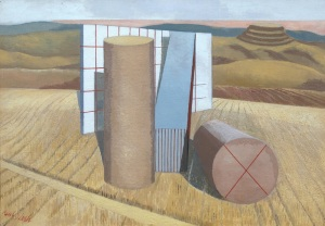 Paul Nash 1889–1946 Equivalents for the Megaliths 1935 Oil on canvas support: 457 x 660 mm frame: 627 x 835 x 80 mm ©Tate