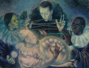 Lot 20 Pavel Tchelitchew (1898-1957) The Concert signed and dated 'P Tchelitchew 33' (lower left) oil on canvas 35 x 45¾ in. (89.5 x 116. 3 cm.) Painted in 1933 Estimate GBP 250,000 - GBP 350,000 (USD 310,750 - USD 435,050) © Christie's Images Limited 2016