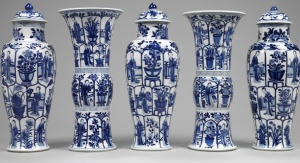 Set of Chinese porcelain vases, 17th century, Victoria and Albert Museum, London