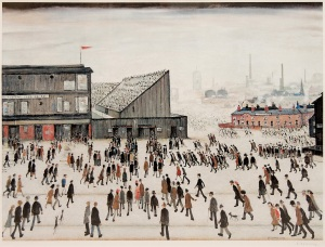 Going to the Match signed by L.S. Lowry, 1972. Edition of 300 Image Size: 52.8 x 68.0cm. Available from www.peterharrington.co.uk