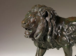 Antoine-Louis Barye, French, (1796-1875) Walking Lion, 1836 Dimensions: Height 10 in 24 cm Length 16 in 40 cm Sladmore Gallery