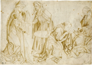 GERMAN SCHOOL Adoration of the Magi (200 x 282 mm.) Germany, Swabia or Franconia, c. 1465-70