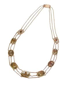 Gold and micro-mosaic necklace belonging to Emma ® National Maritime Museum, London